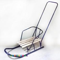 Санки труба со спинкой и ручкой  Спутник (мод. 5.1)
