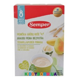Каша молочная Semper Мультизлаковая с грушей и бананом (с 8-ми мес.) 250 г