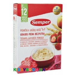 Каша молочная Semper Мультизлаковая с фруктами, ягодами и пробиотиками (с 12-ти мес.) 250 г