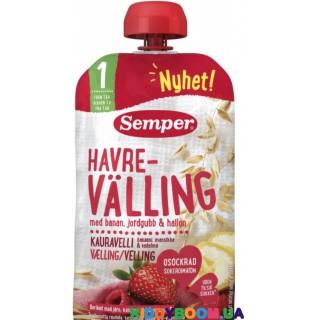 Зерно-молочный напиток Веллинг Semper овсяный с фруктами и ягодами (с 8-ми мес.) 120 г