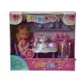 Кукольный набор Эви Вечеринка для домашних любимцев Steffi & Evi 732831