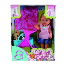 Кукла Эви и ее любимцы с коляской Steffi & Evi 5733080