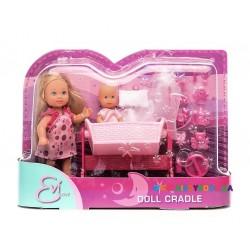 Кукольный набор Эви с малышом в колыбели Steffi & Evi 5736242