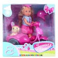 Кукла Эви Прогулка на скутере  с собачкой Steffi & Evi 5736584