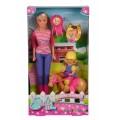 Кукольный набор Штеффи и Эви Уроки верховой езды Steffi &Evi 5738051