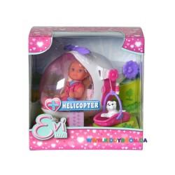 Кукольный набор Эви Спасательный геликоптер Steffi &Evi 5739469