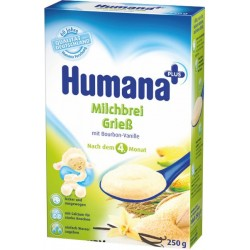 Каша молочная Нumana кукуруза/рис/ваниль (с 4 мес.) 250 гр