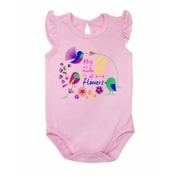 Боди-футболка Цветочная феерия р.68-86 Smil 121046