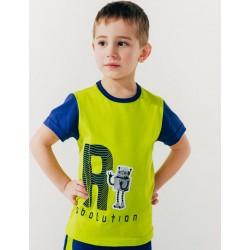 Футболка для мальчика Эволюция роботов р.92-116 Smil 110517