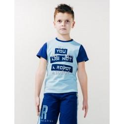 Футболка для мальчика Эволюция роботов р.122-140 Smil 110519