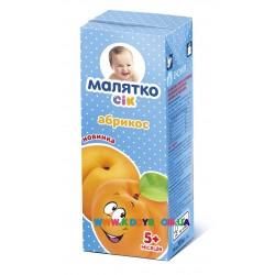 Сок Малятко абрикосовый с мякотью (с 5 мес.) 200 мл