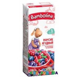 Детский морс Bambolina мультиягодный (с 5-ти мес.) 200 мл