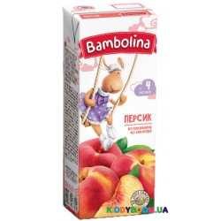 Сок Bambolina персиковый (с 4-х мес.) 200 мл