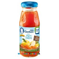Сок Gerber Яблоко,морковь (с 5 мес.)  175 мл.