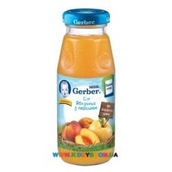 Сок Gerber Яблоко,персик (с 5 мес.) 175 мл.