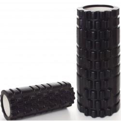 Массажный ролик валик для йоги и фитнеса MS 0857-B Черный