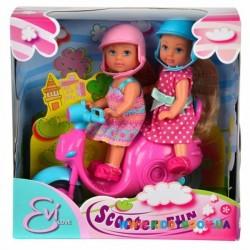 Кукла Эви Веселое путешествие на скутере со шлемами Steffi & Evi 5730485