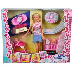 Кукольный набор Штеффи с младенцем Steffi & Evi 5730861