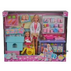 Кукольный набор Ветеринарная клиника с животными Steffi & Evi 5733040