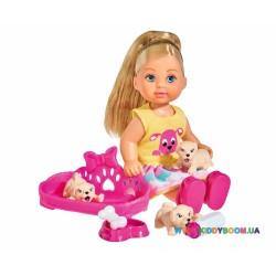Кукольный набор Эви со щенками Steffi & Evi 5733041