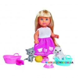 Кукольный набор Эви и домашние питомцы Steffi & Evi 5733044