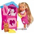 Кукольный набор Эви Домик кроликов Steffi & Evi 5733065