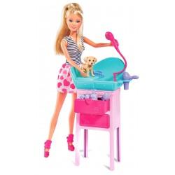 Кукольный набор Салон красоты Стильные питомцы с аксессуарами Steffi & Evi 5733266