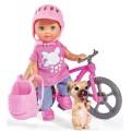 Кукольный набор Эви Холидей на велосипеде с питомцем Steffi & Evi 5733273