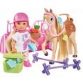 Кукольный набор Холидей Конюшня с лошадкой и аксессуарами Steffi & Evi 5733274