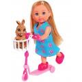 Кукольный набор Эви Чудесный скутер с зайчиком Steffi & Evi 5733338
