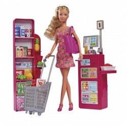 Игровой набор Steffi & Evi 5733449 В супермаркете, с кассой (звук, свет)