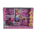 Кукольный набор Штеффи с детьми и аксессуарами Steffi & Evi 5736350