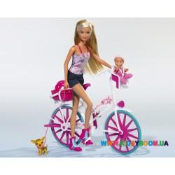 Кукольный набор Штеффи с ребенком на велосипеде Steffi & Evi 5739050