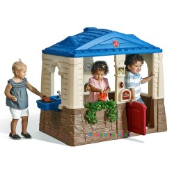 "Детский домик ""NEAT & TIDY Cottage"" blue roof Step2 41361"