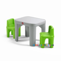 "Набор: стол и 2 стула "" MIGHTY MY SIZE TABLE&CHAIRS"" Step2 41387"