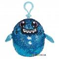 Мягкая игрушка с пайетками Shimmeez S2 Акула Зубастик на клипсе 9 см SH01052SH