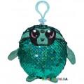 Мягкая игрушка с пайетками Shimmeez S2 Талантливый Ленивец на клипсе 9 см SH01052SL