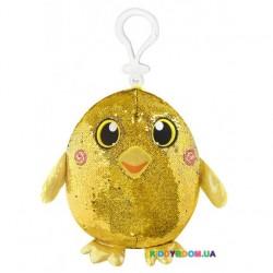 Мягкая игрушка с пайетками Shimmeez Радостная уточка на клипсе 9 см SMZ01000Du