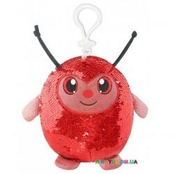 Мягкая игрушка с пайетками Shimmeez Симпатичная божья коровка на клипсе 9 см SMZ01000L