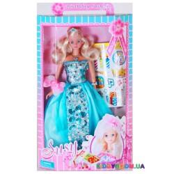 Кукла Сьюзи именинница с наклейками 2 вида Susy 1007WBX