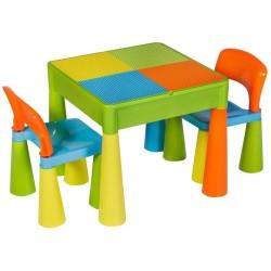 Комплект детской мебели Tega Mamut стол и 2 стульчика Разноцветный