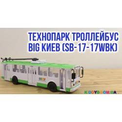 Модель Троллейбус BIG Киев (свет, звук, укр. язык) Технопарк SB-17-17WBK