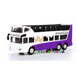 Модель Автобус двухуровневый Львов инерционный механизм Технопарк SB-16-21LV