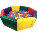Сухой бассейн Восьмигранник 200 х 50/15 см Tia-sport  sm-0197