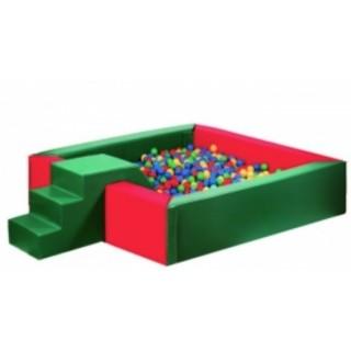Сухой бассейн с горкой 150 х 150 х 40 см Tia-sport sm-0201