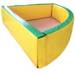 Сухой угловой бассейн 130 х 130 х 40 см Tia-sport sm-0252