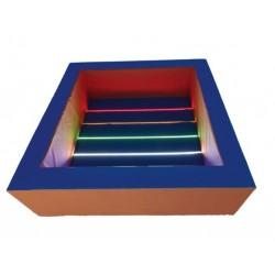 Сухой бассейн с подсветкой, квадратный 200 х 200 х 60/20 см Tia-sport sm-0527