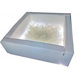 Сухой бассейн Светотерапия, квадратный 150 х 150 х 40 см Tia-sport sm-0540
