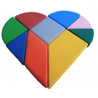 Конструктор танграм сердце 120 х 120 х 10 см Tia-sport sm-0425