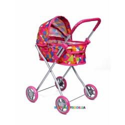 Прогулочная коляска для куклы «Lili» розовая Todsy 9320